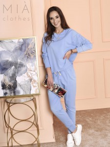 KOMPLET DRESOWY CASUAL POWDER BLUE