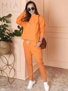 KOMPLET DRESWOWY CASUAL ORANGE